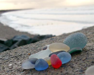 Sea Glass finds from Seaham Waves